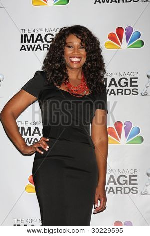 LOS ANGELES - FEB 17:  Yolanda Adams in the Press Room of the 43rd NAACP Image Awards at the Shrine Auditorium on February 17, 2012 in Los Angeles, CA