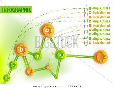 Infographics chronological diagram