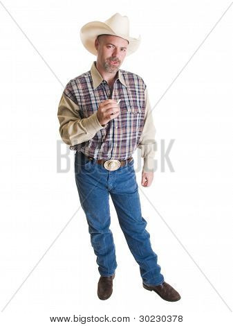 Cowboy With Cigarette