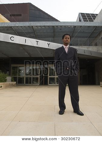 Businessman City Hall