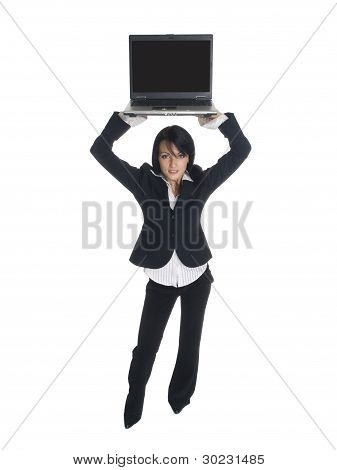 Businesswoman - High Laptop