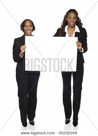 Businesswomen - Team Sign