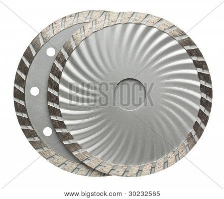 Circular saw blades. Disks for stone cutting work.