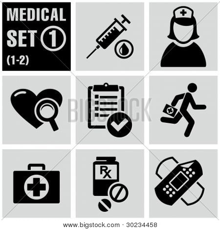 Medical icons set 1.