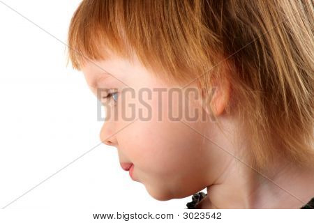 Profile Portrait Of Beauty Little Girl