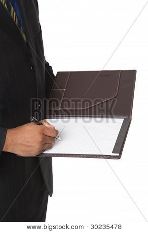 Businessman - Taking Notes