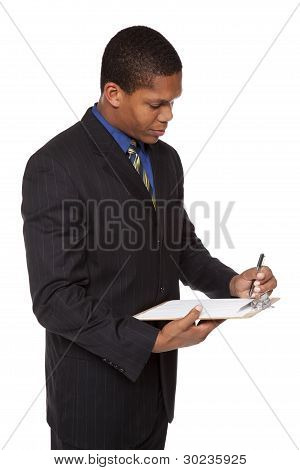 Businessman - Clipboard Questionnaire