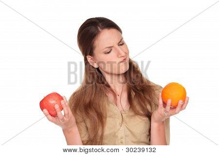 Businesswoman - Apple Vs Orange