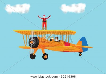 Woman Wing Walking