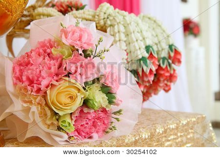 Bouquet flowers arrangement for thai wedding