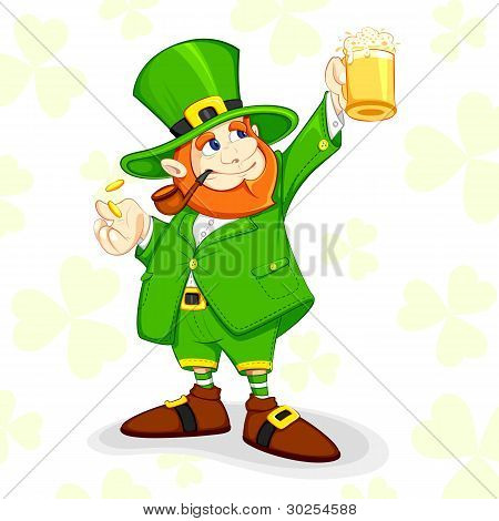 Leprechaun celebrating Saint Patrick's Day