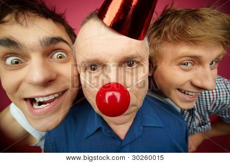 Two crazy guys play a senior man up on fool�¢�?�?s day