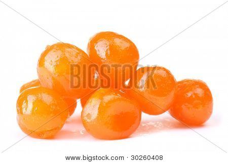 Dried tangerines isolated on white