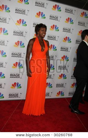 .LOS ANGELES - FEB 17:  Viola Davis arrives at the 43rd NAACP Image Awards at the Shrine Auditorium on February 17, 2012 in Los Angeles, CA.