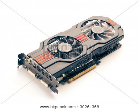 graphic card isolated on white