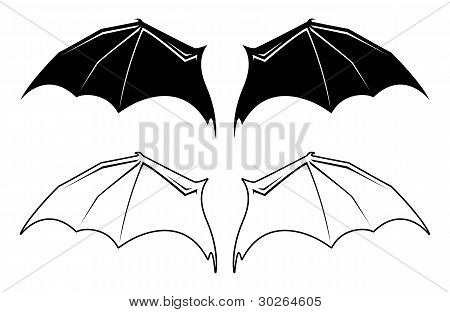 Vector Bat Wings