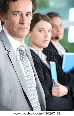 Serious executive