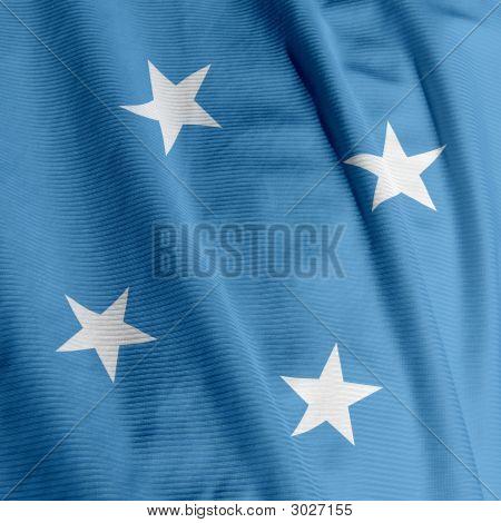 Micronesian Flag Closeup