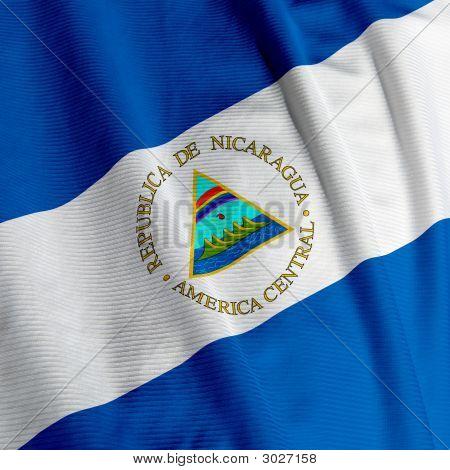 Nicaraguan Flag Closeup