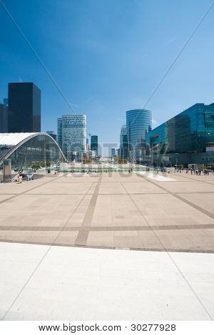 La Defense Square Cityscape