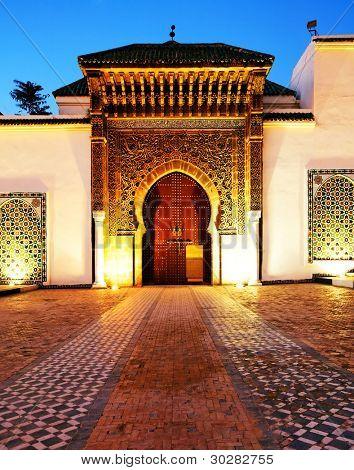 Moulay Ismail Mausoleum, Meknes, Marokko, Nordafrika