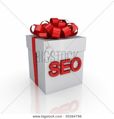 Gift box with a signature SEO.