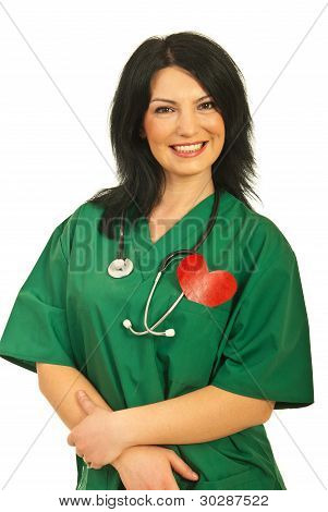Cheerful Health Worker Woman