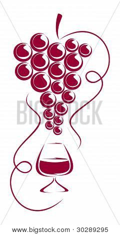 Grapes And Wine Glass.