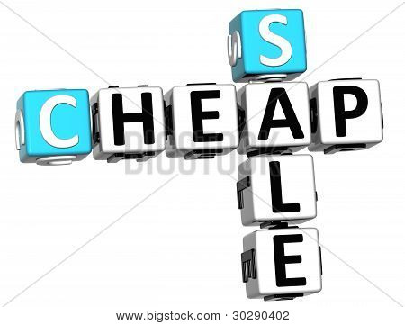 3D Cheap Sale Crossword Text