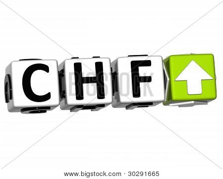 Currency Chf Rate Concept Symbol Button On White Background