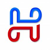 Letter H Logo Design Vector Illustration Template, Letter H Logo Vector, Creative Letter H Letter Lo poster
