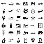 Air Navigation Icons Set. Simple Set Of 36 Air Navigation Icons For Web Isolated On White Background poster