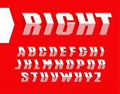 Arrow Style Letters Set. Unusual Font In The Form Of An Arrow. The Alphabet Looks Like A Turn Road S poster