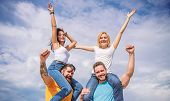 Feel Freedom. Cheerful Couples Dancing. Friends Having Fun Summer Open Air Festival. Men And Women E poster