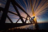 Steel Wool Photography, Spectacular And Cool Photography With Burning Steel Wool poster