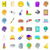 Interactive Access Icons Set. Cartoon Set Of 36 Interactive Access Icons For Web Isolated On White B poster