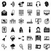 System Access Icons Set. Simple Set Of 36 System Access Icons For Web Isolated On White Background poster