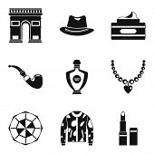 Tourist Voyage Icons Set. Simple Set Of 9 Tourist Voyage Icons For Web Isolated On White Background poster