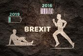 Image Relative To Politic Situation Between Great Britain And European Union. Politic Process Named  poster