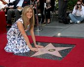 LOS ANGELES - FEB 22:  Jennifer Aniston at the Jennifer Aniston Hollywood Walk of Fame Star Ceremony