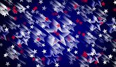 4, Fourth ,abstract ,american Background ,banner Background, Blue Background ,holiday ,confetti, Des poster