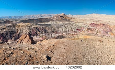Colored Sand In The Desert.