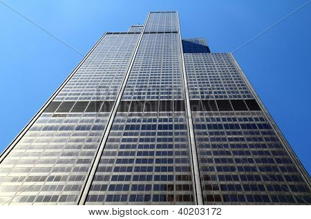 CHICAGO, IL - MAY 4: Willis Tower, 108 floors (formerly named Sears Tower until 2009) was the tallest building in the world for nearly 25 years when built in 1973, Chicago, May 4, 2011.
