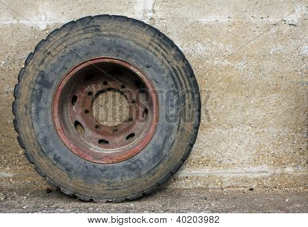 Rubber Wheel Of A Big Truck