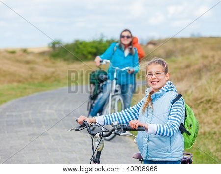Girl with the bike