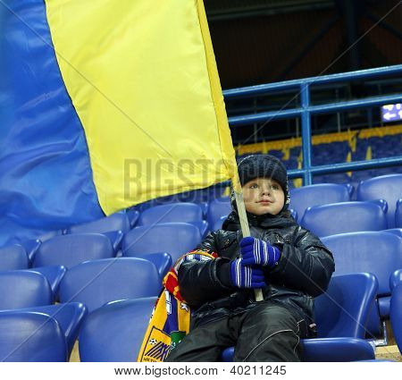 Metalist Fan Support Their Team During Match