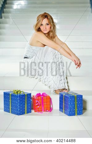 Young Woman With Three Gifts