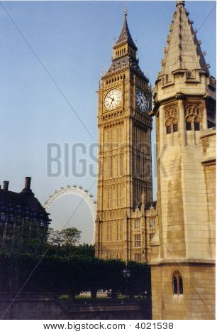 Westminster Palace And London Eye 10