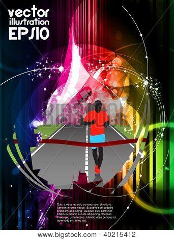 Sport poster. Vector illustration