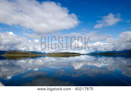 Dramatic Sky And Reflection On The Beagle Channel, Patagonia, Argentina